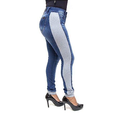 Calça Jeans com Moletom Seven 7 a Beach Hot Pants Escura