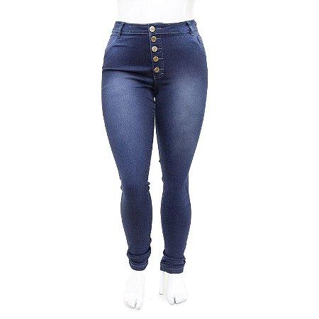 Calça Jeans Plus Size Feminina Helix Hot Pants Escura