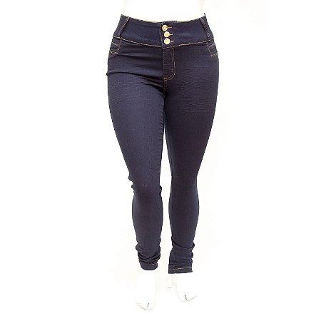 Calça Jeans Plus Size Feminina Credencial Azul Marinho com Elastano