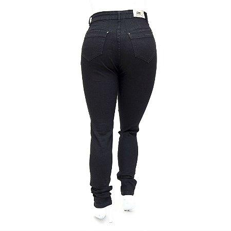 Calça Jeans Feminina Plus Size Hot Pants Cheris com Lycra