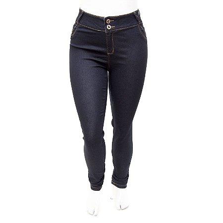 Calça Jeans Plus Size Feminina Escura Credencial com Lycra