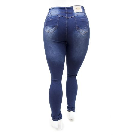 Calça Jeans Plus Size Feminina Azul Credencial com Lycra