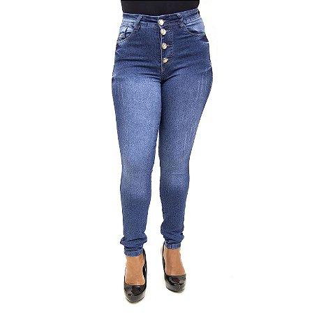 Calça Jeans Feminina Hot Pants Escura Thomix com Lycra