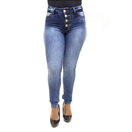 Calça Jeans Feminina Hot Pants Azul Cheris com Lycra