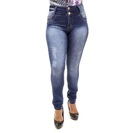 Calça Jeans Feminina com Lycra Thomix Azul Levanta Bumbum