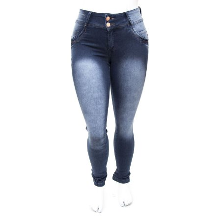 Calça Jeans Plus Size Escura Thomix Cintura Alta