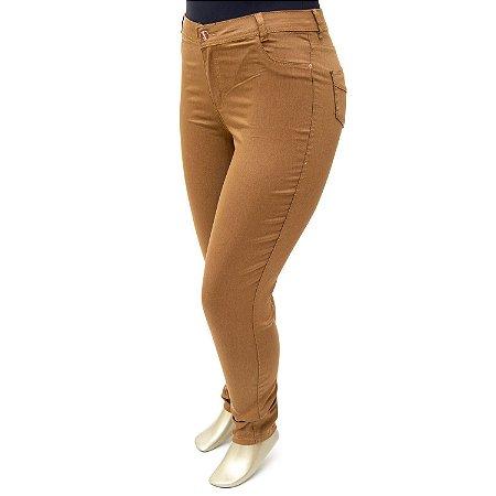 Calça Plus Size Caramelo Credencial Cintura Alta