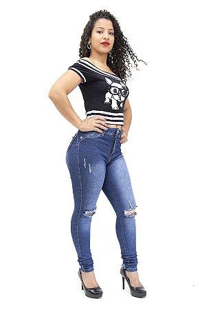 Calça Jeans Feminina Rasgadinha Hot Patns Thomix