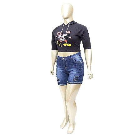 Shorts Jeans Plus Size Rasgadinho Thomix