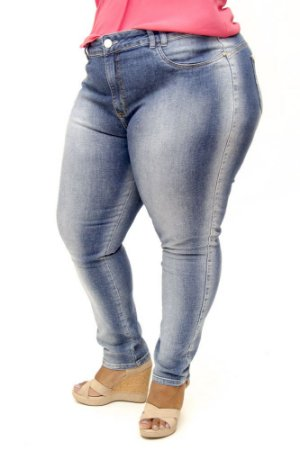 Calça Jeans Bokker Plus Size Reta Chayane Azul