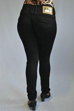 Calça Jeans Preta Feminina Helix Com Elastano