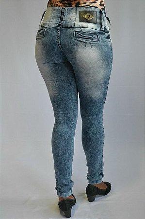 Calça Jeans Feminina Legging Helix Modelo Marmorizada