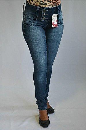 Calça Jeans Azul Feminina Modelo Legging Credencial