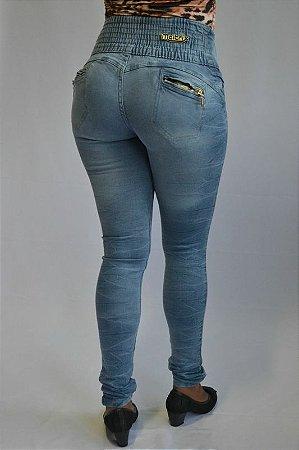Calça Jeans Legging Clara Meitrix Modelo Delavê Cós Alto