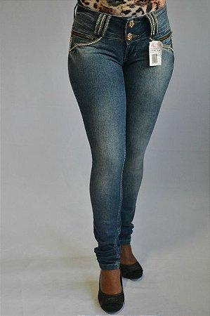 Calça Jeans Feminina Afront Azul Escuro Levanta Bumbum