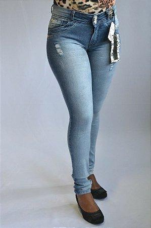 Calça Jeans Rasgada Lady X Modelo Legging Levanta Bumbum