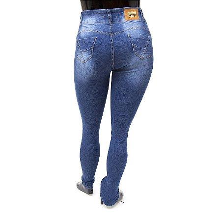 Calça Jeans Plus Size Feminina Escura Credencial Cintura Alta
