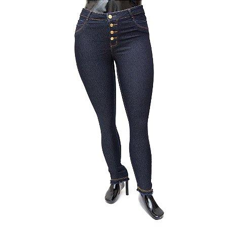 Calça Jeans Plus Size Feminina Básica Darlook Cintura Alta
