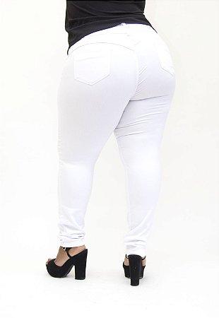 Calça Jeans Credencial Plus Size Skinny Raiane Branca