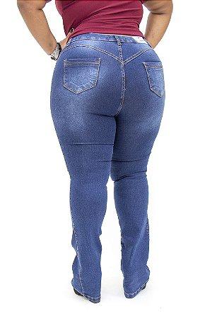 Calça Jeans Credencial Plus Size Flare Giovana Azul