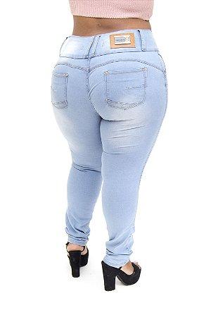 Calça Jeans Thomix Plus Size Skinny Mara Azul