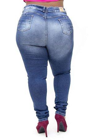 Calça Jeans Plus Size Feminina Básica Sawary Rosiane