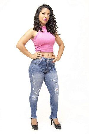 Calça Jeans Feminina Rasgadinha Biotipo Lidianne