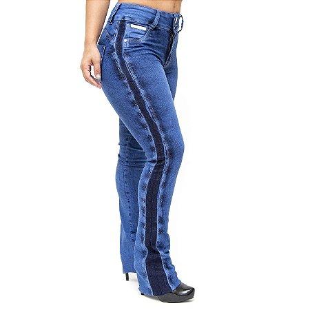 Calça Jeans Cheris Flare Lucileia Azul