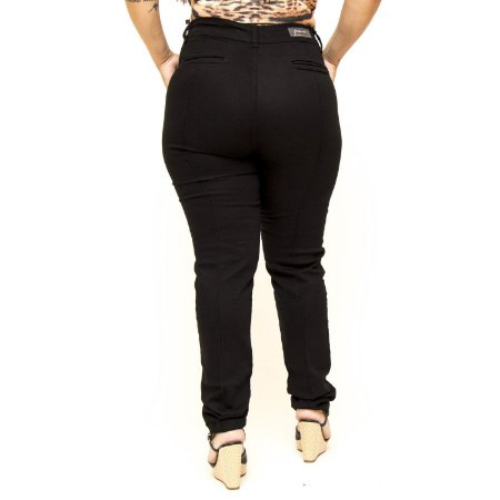 Calça Jeans Credencial Plus Size Skinny Conforto Talia Preta