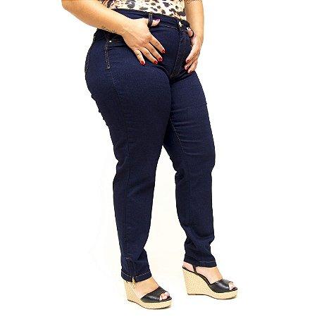 Calça Jeans Plus Size Azul Cintura Alta Cambos Elzira