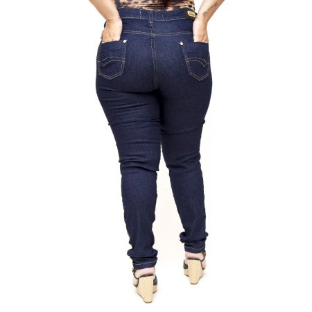 Calça Jeans Thomix Plus Size Skinny Zumira Azul