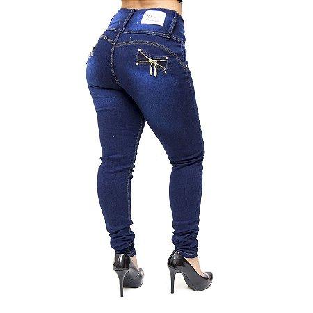 Calça Jeans Cheris Skinny Ariadene Azul