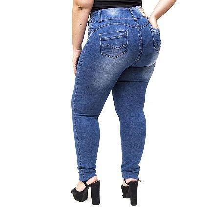 Calça Jeans Credencial Plus Size Skinny Glezia Azul