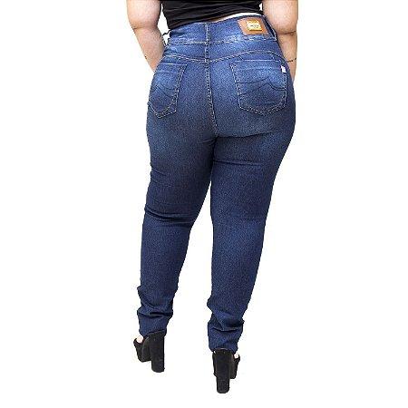 Calça Jeans Meitrix Plus Size Skinny Valmira Azul