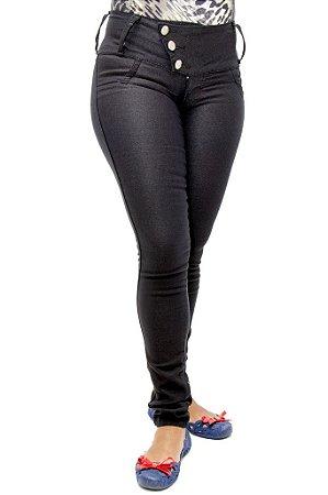 Calça Jeans Feminina Legging Preta Helix Levanta Bumbum