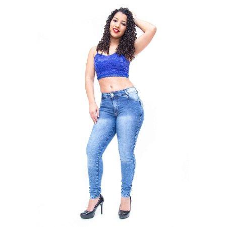 Calça Jeans Feminina Thomix Skinny Percylia Azul