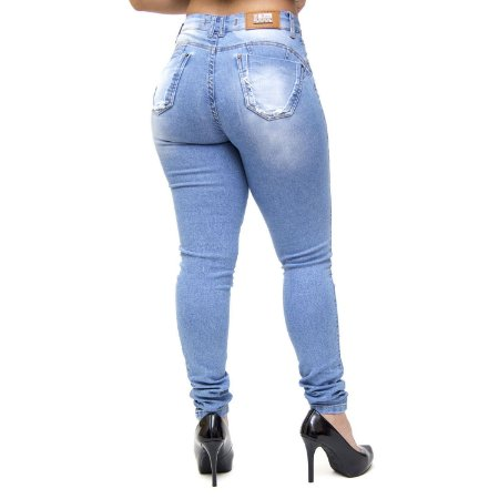 Calça Jeans Thomix Rasgadinha Skinny Dallyene Azul