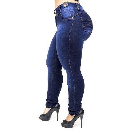 Calça Jeans Credencial Plus Size Skinny Nayanny Azul