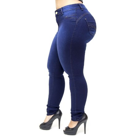 Calça Jeans Thomix Plus Size Skinny Raially Azul