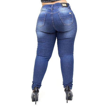 Calça Jeans Thomix Plus Size Skinny Pedrina Azul
