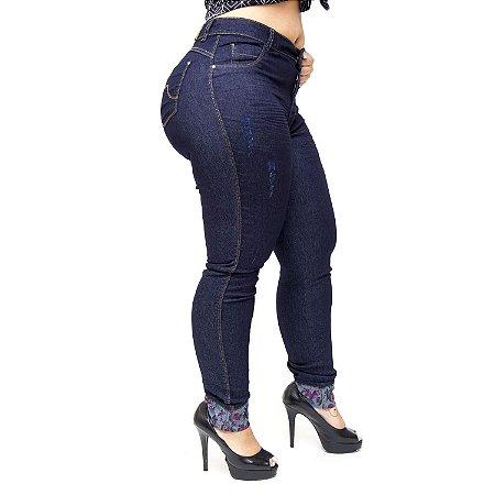 Calça Jeans Helix Plus Size Skinny Sidinara Azul