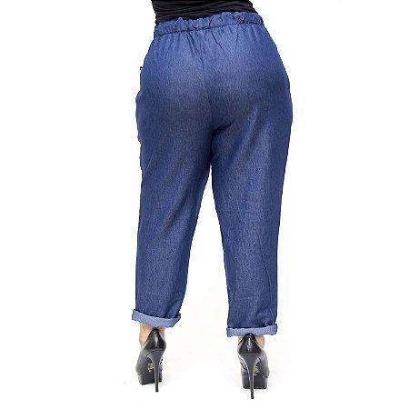 Calça Feminina Cambos Plus Size Clochard Dassia Azul