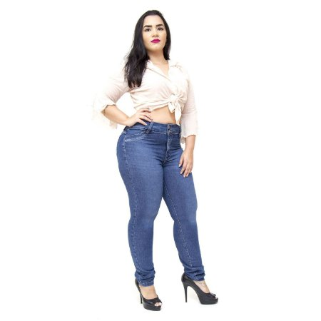 Calça Feminina Cambos Plus Size Skinny Iuly Azul