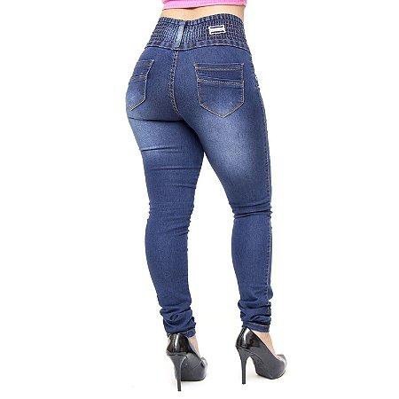 Calça Jeans Feminina Credencial Skinny Lucileide Azul