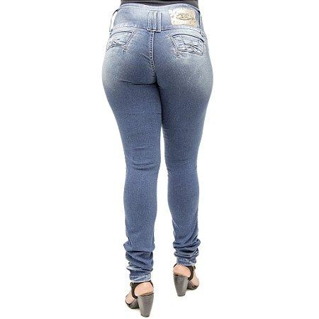 Calça Jeans Legging Darlook Lavagem Azul Levanta Bumbum