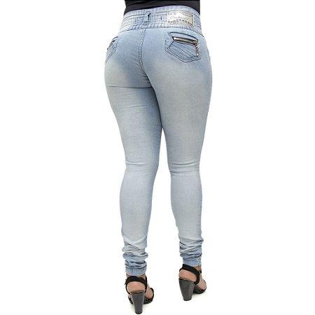 Calça Jeans Legging Credencial Clara com Elástico na Cintura