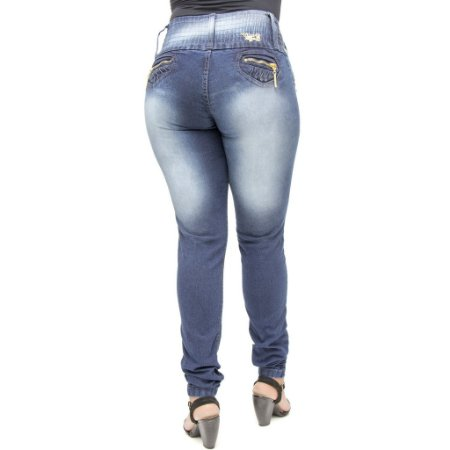 Calça Jeans Legging Cheris Azul Levantanta Bumbum com Elastano