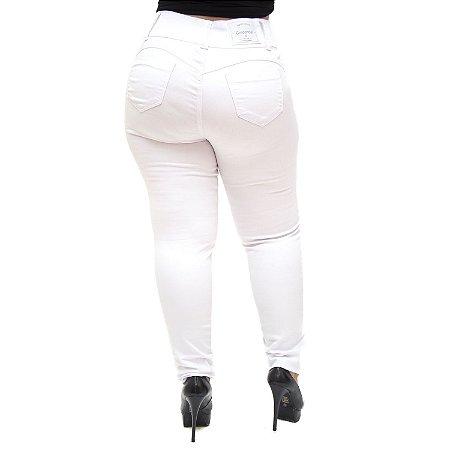 Calça Jeans Credencial Plus Size Skinny Nathielle Branca