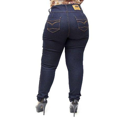 Calça Jeans Credencial Plus Size Skinny Joisilaine Azul