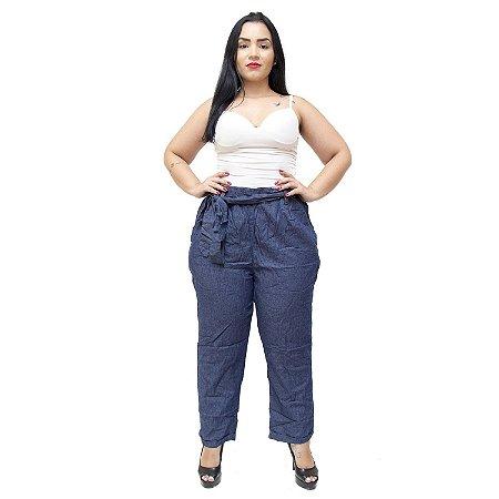 Calça Feminina Cambos Plus Size Clochard Loianny Azul
